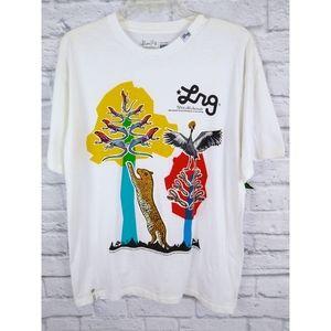 NWT Lrg Graphic Print Animals Tree T Shirt L
